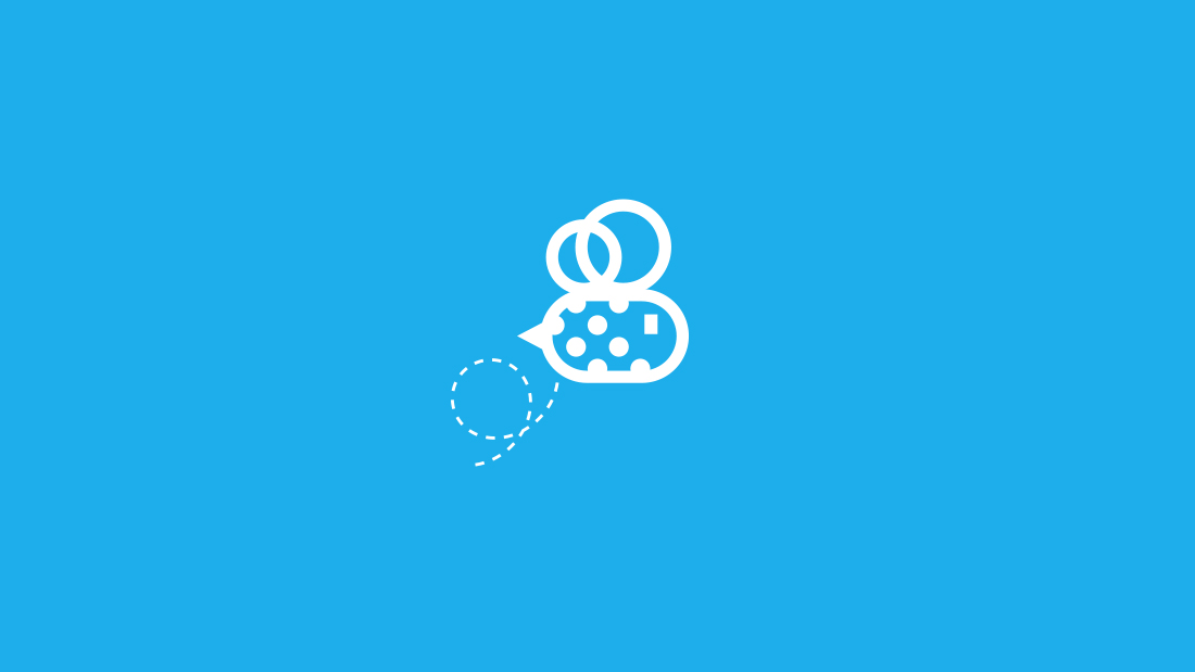 Logotipo Bee Social por Drool estudio creativo - 3