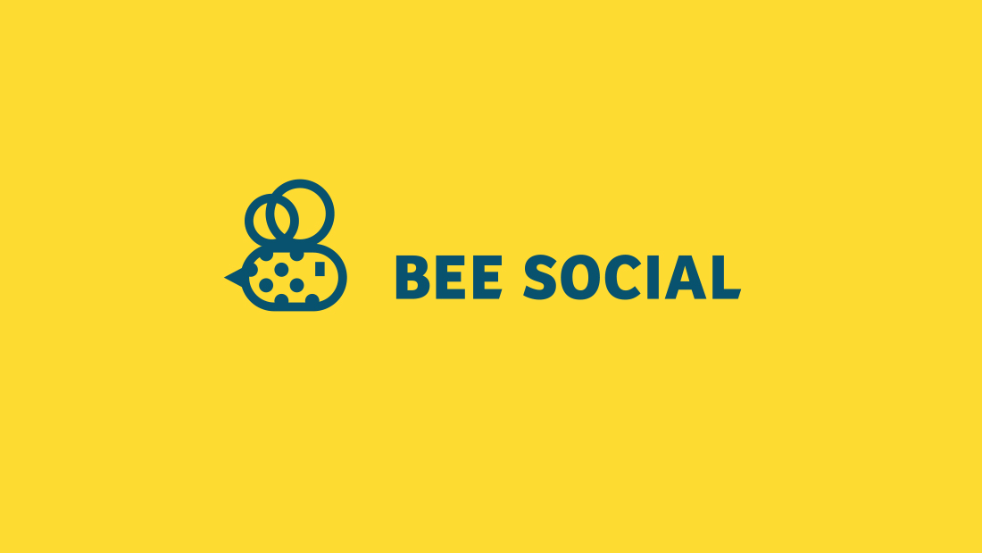 Logotipo Bee Social por Drool estudio creativo - 2