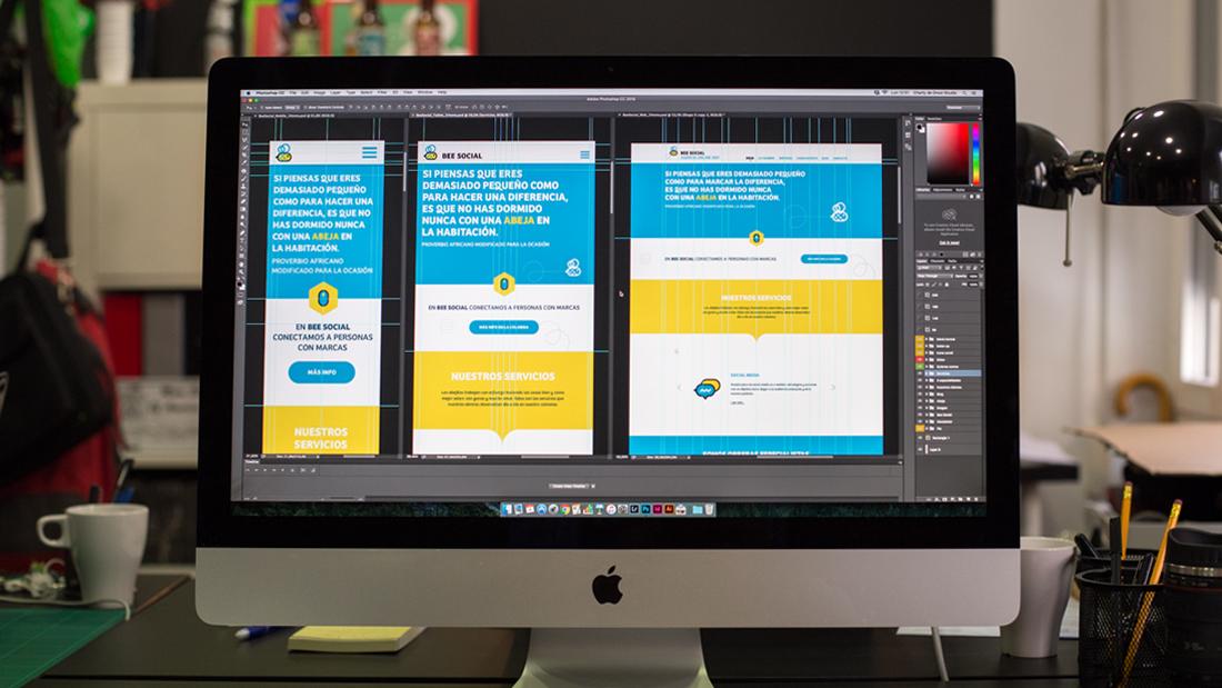 Diseño web Bee Social por Drool estudio creativo - 8
