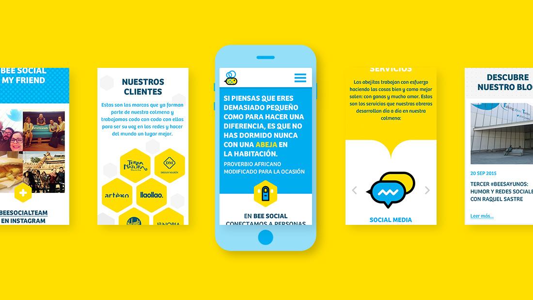 Diseño web Bee Social por Drool estudio creativo - 2