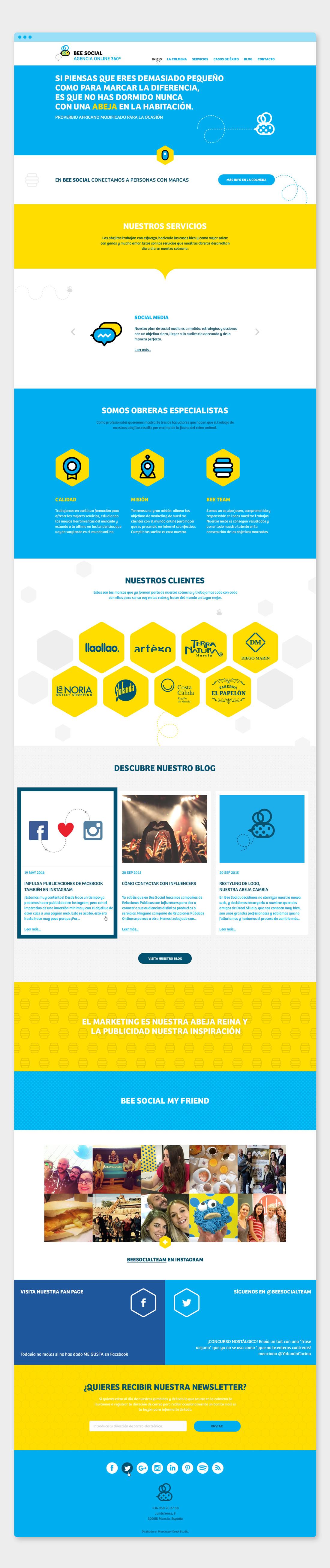 Diseño web Bee Social por Drool estudio creativo - 1