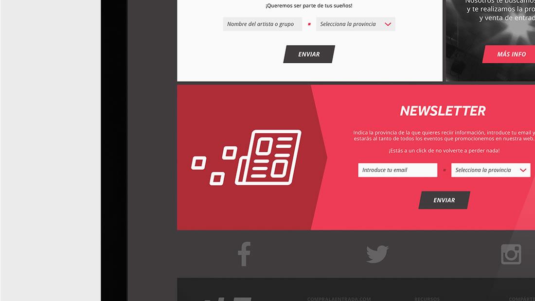 Diseño web Compralaentrada por Drool estudio creativo - 1
