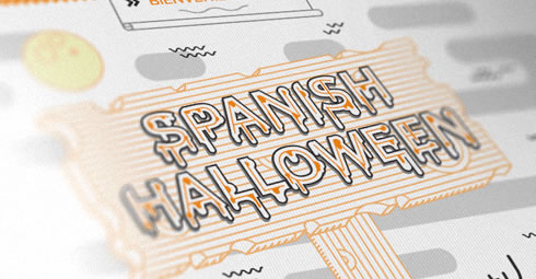 Spanish halloween - Infographic by Drool Studio