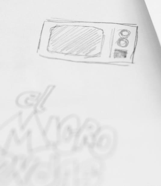 Logotipo El Microondas por Drool estudio creativo - 12