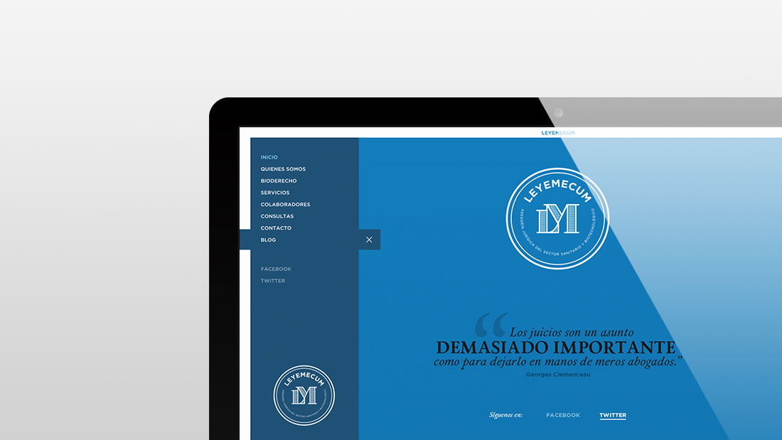 Diseño web Leyemecum por Drool estudio creativo - 2