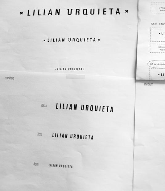Logotipo Lilian Urquieta por Drool estudio creativo - 7