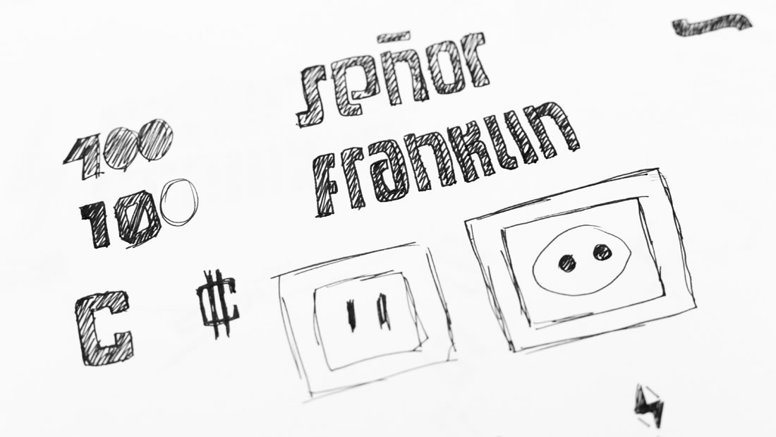 Logotipo Señor Franklin por Drool estudio creativo - 7