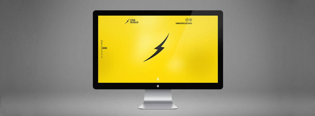 Diseño web Señor Franklin por Drool estudio creativo - 1