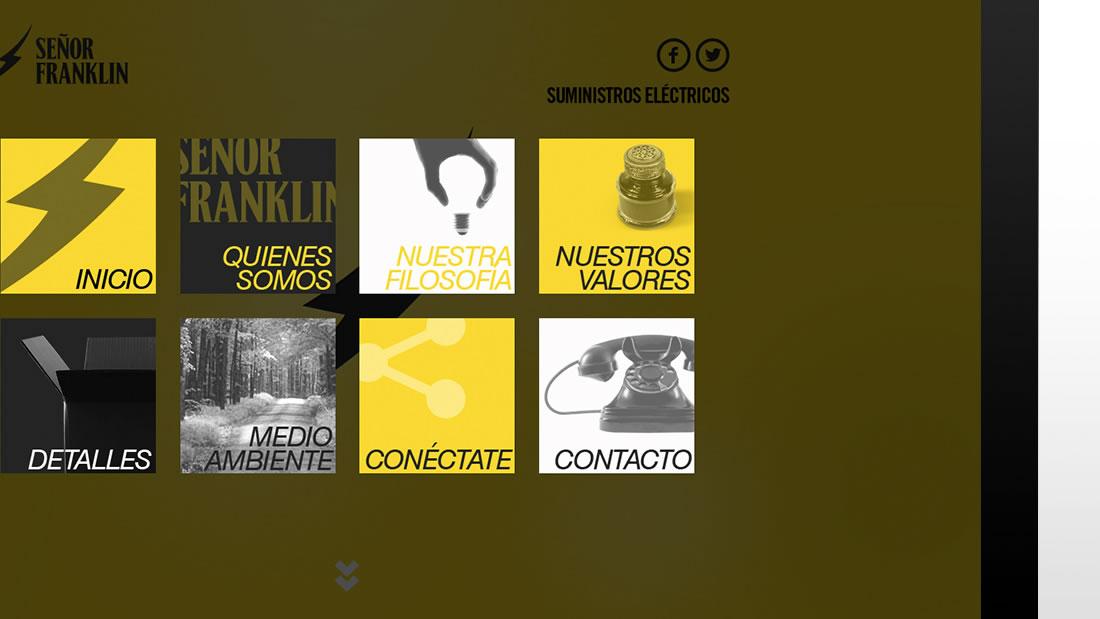 Diseño web Señor Franklin por Drool estudio creativo - 2