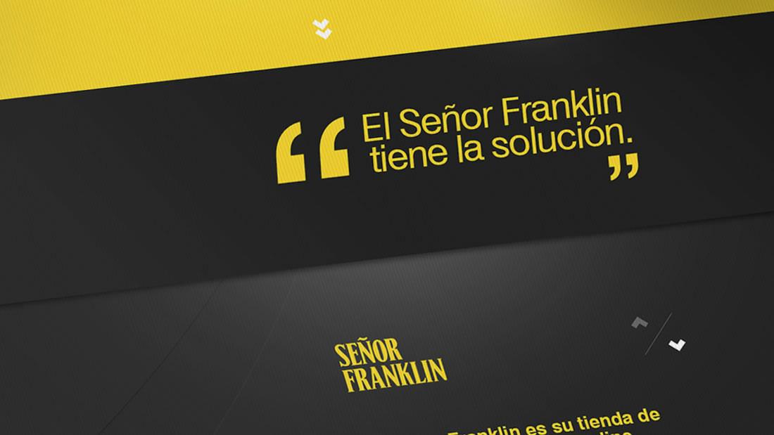 Diseño web Señor Franklin por Drool estudio creativo - 6