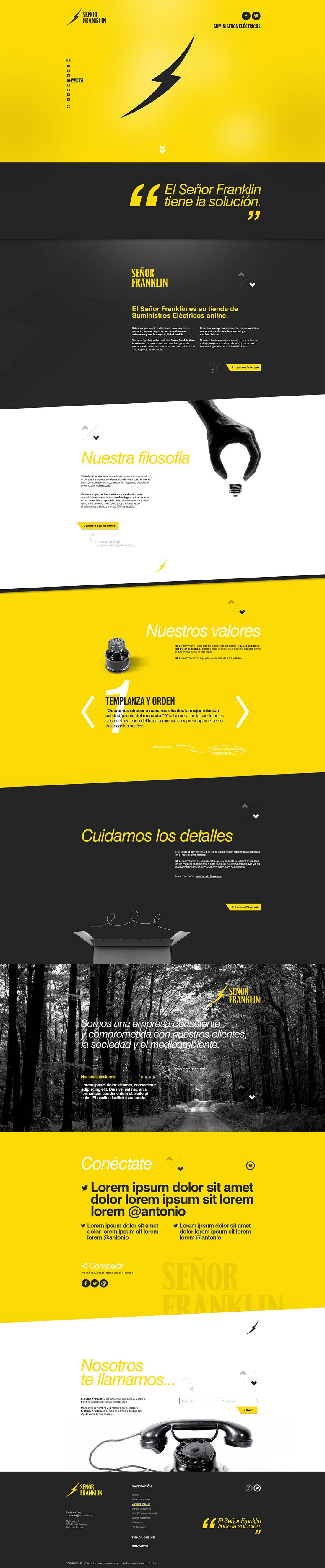 Diseño web Señor Franklin por Drool estudio creativo - 7