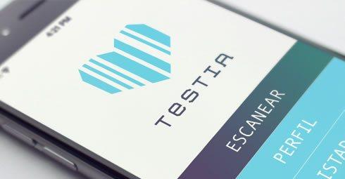 Testia - Diseño de app por Drool Studio