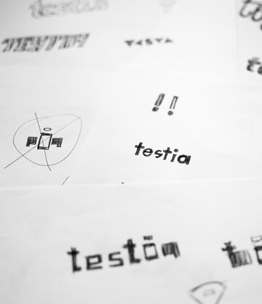 Logotipo Testia por Drool estudio creativo - 6