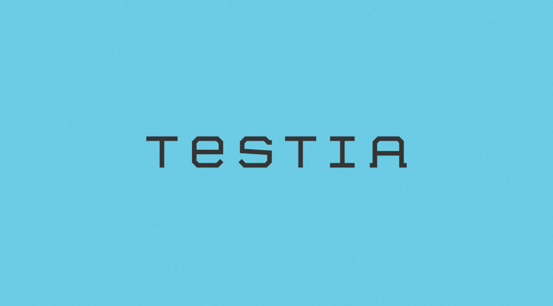 Logotipo Testia por Drool estudio creativo - 2