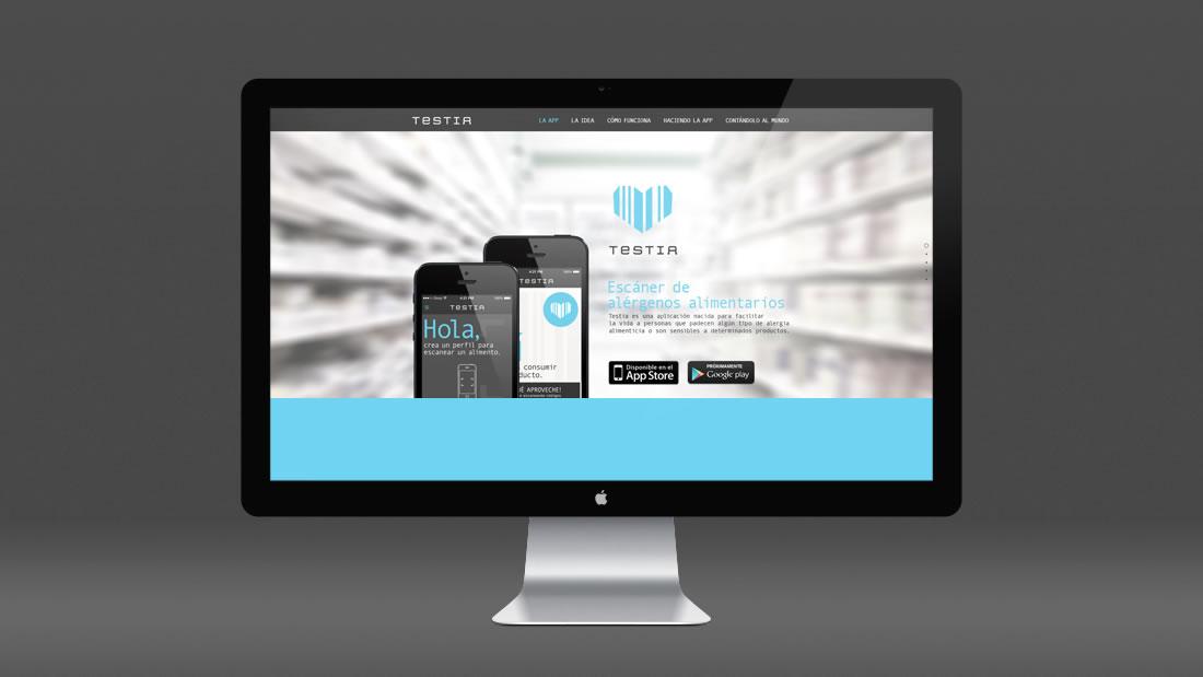 Diseño web Testia por Drool estudio creativo - 1