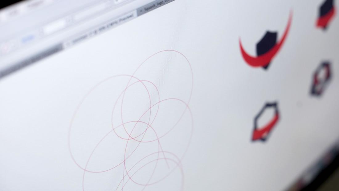 Logotipo Liga Murcia Squash por Drool estudio creativo - 4