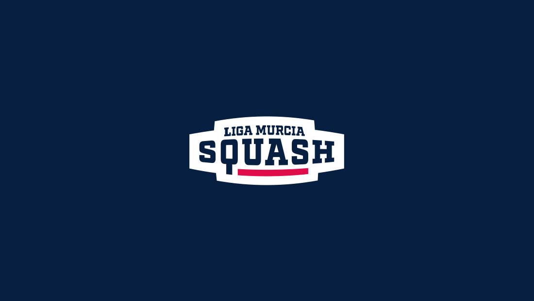 Logotipo Liga Murcia Squash por Drool estudio creativo - 2