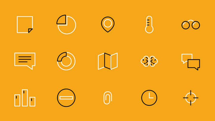 Example of Iconography by Drool Studio