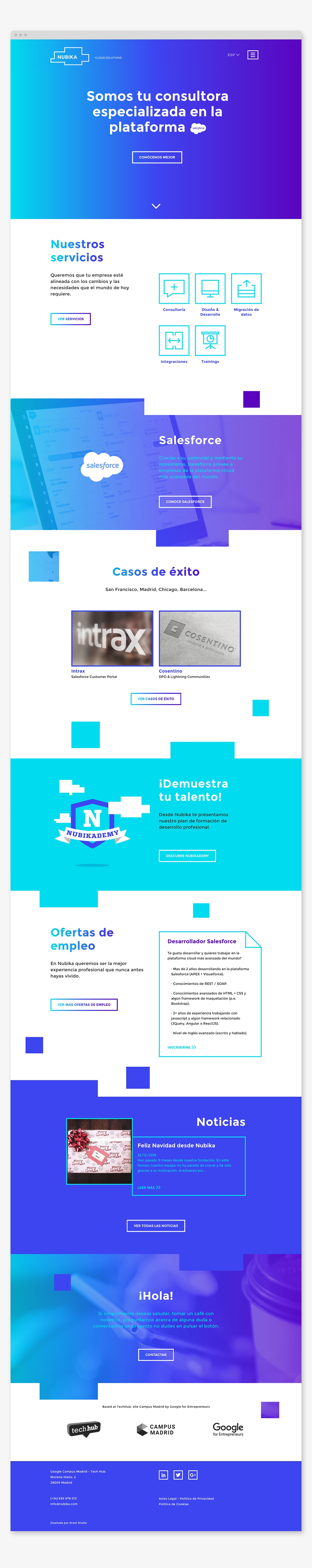 Para el diseño y programación de su página web, creamos un site moderno y potente visualmente, con elegantes transiciones y cuidadas animaciones