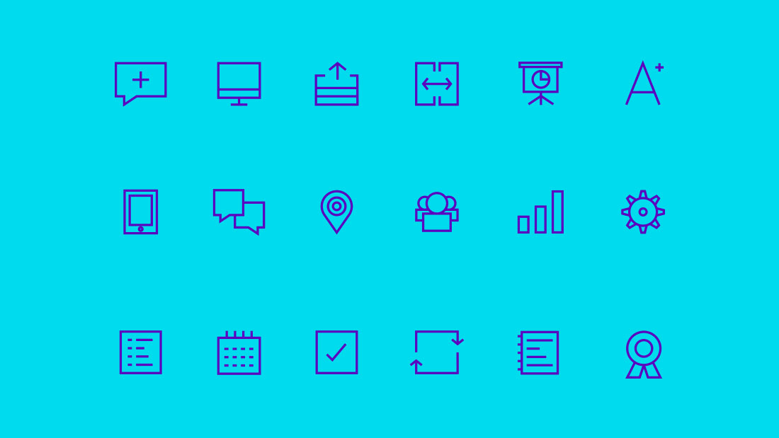 Diseño web: Diseño de iconos digitales modernos e innovadores (iconografía)