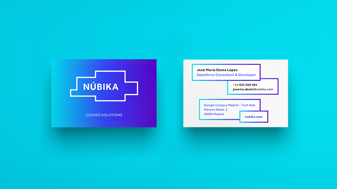 Tarjeta corporativa de Nubika