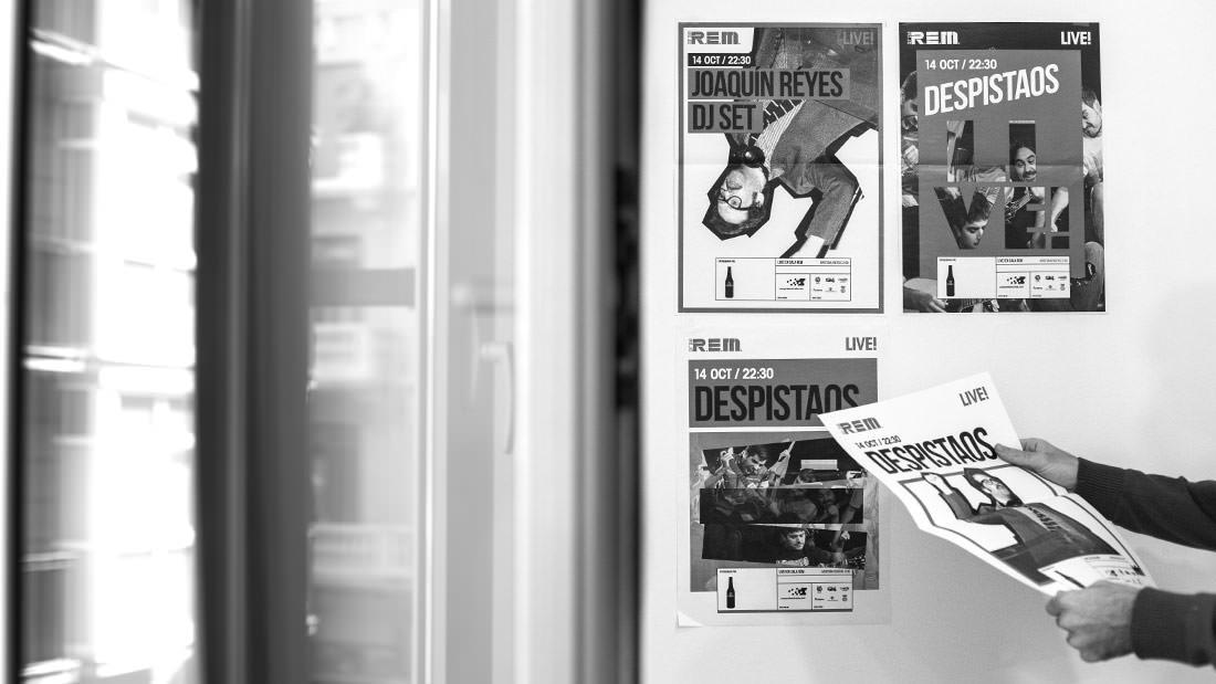 Sala REM Proyecto de Diseño gráfico y comunicación - Making of cartelería 2