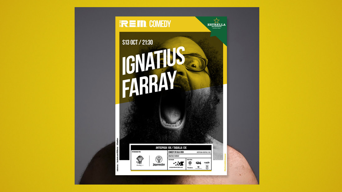 Sala REM Proyecto de Diseño gráfico y comunicación - Cartelería Comedy