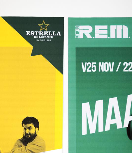 Sala REM Proyecto de Diseño gráfico y comunicación - Cartelería - Detalle Estrella Levante