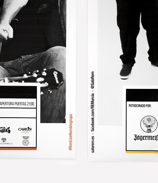Sala REM Proyecto de Diseño gráfico y comunicación - Detalle faldón de la cartelería