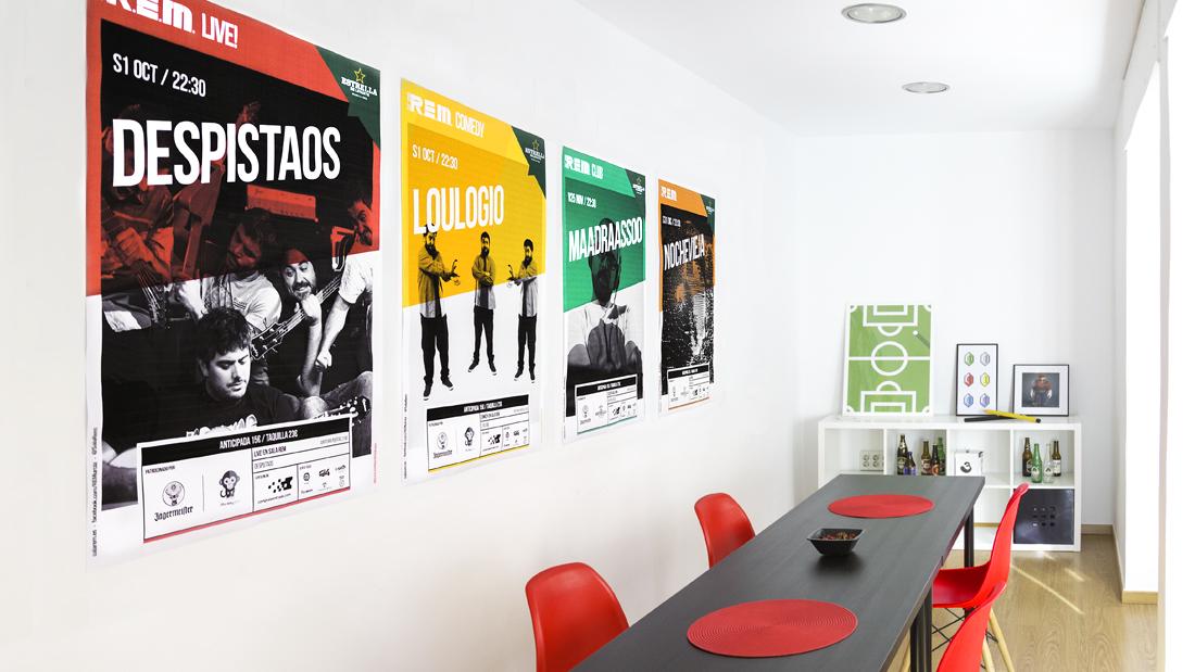 Sala REM Proyecto de Diseño gráfico y comunicación - Arte Final cartelería