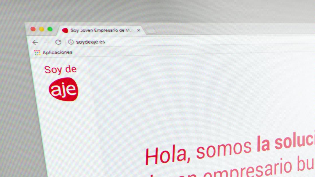 Nuevo diseño de Página web responsive de SOY DE AJE
