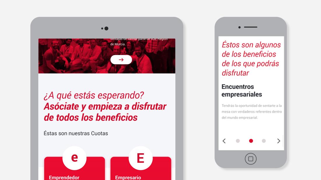 Página web totalmente responsive adaptada a los dispositivos móviles de SOY DE AJE