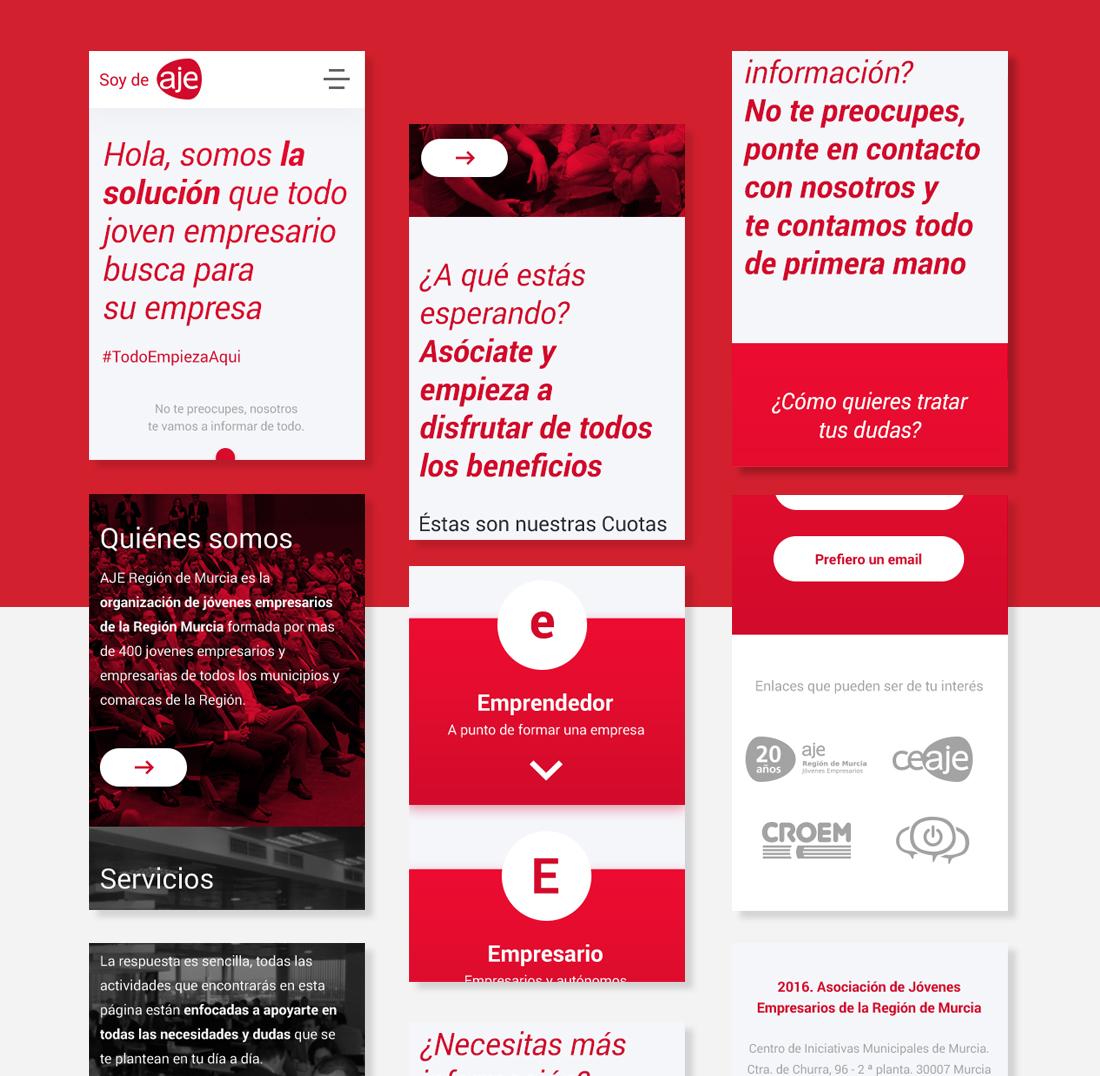 Diferentes adaptaciones diseño web responsive: SOY DE AJE