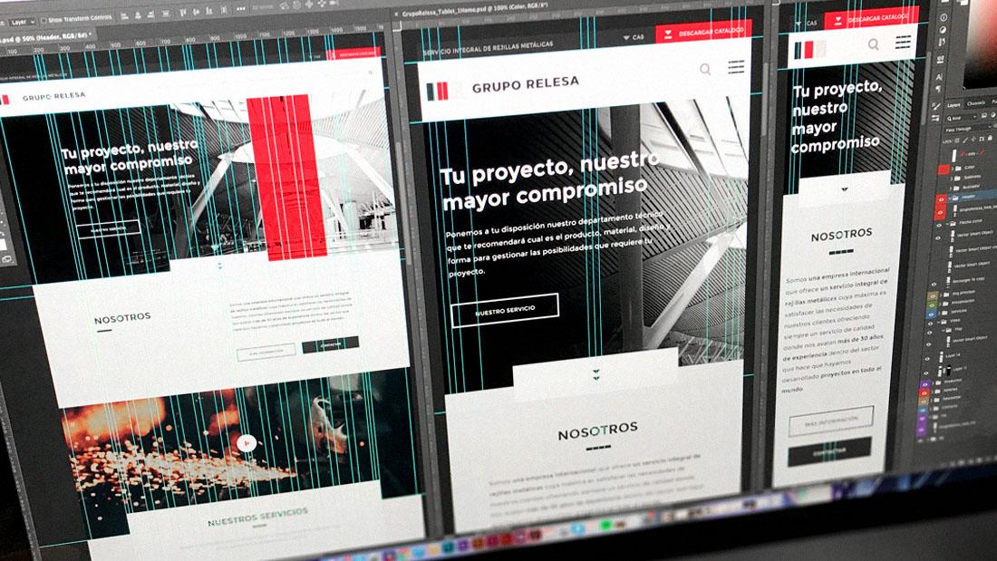 Diseño web responsive de Grupo Relesa